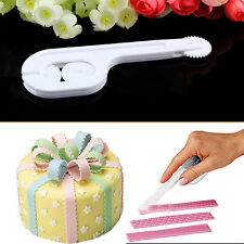 Fondant Cake Sugar Paste Decor Lace Embosser Wheel Icing Stitching Cutter Tool