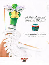 PUBLICITE ADVERTISING 084  1993  BORDEAUX CHESNEL   Rillettes de Canard