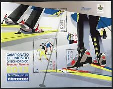SAN MARINO 2013 SCI NORDICO/WORLD CUP NORDIC mini.sheet