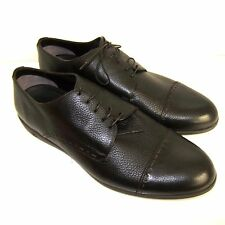 C-1138200 New Ermenegildo Zegna Dark Brown Captoe Shoes Size US 12 / Marked 11