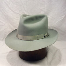 Blue Gray Royal Stetson Playboy Men's Vintage Hat with Blue Gray Band -- Size 7