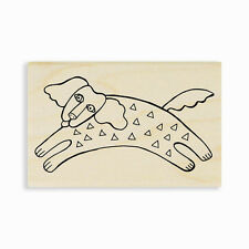 LAUREL BURCH Dog Tail Run Wood Mounted Rubber Stamp Stampendous LBM001 NEW