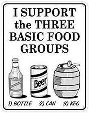 Apoyo los tres alimentos básicos grupos... De Pared De Metal signo (SS) reducido-basta