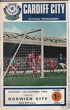 CARDIFF CITY V NORWICH CITY   2ND DIVISION  18/10/69