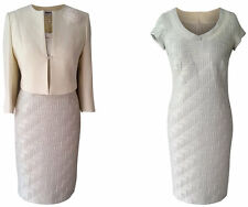 PALE MINT GREEN MOTHER OF THE BRIDE GROOM OUTFIT 2 PIECE JACKET DRESS SIZE 20
