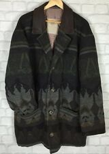 VINTAGE RETRO AZTEC WOOL URBAN TRIBAL NAVAJO OVERSIZED FESTIVAL JACKET COAT