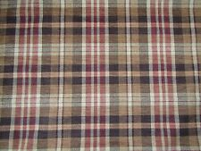 ZOFFANY CURTAIN/UPHOLSTERY FABRIC DESIGN Ducato Plaid 3.6 METRES CHENILLE WEAVE