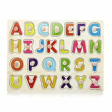 Educational Learning Toys Games 26 Letters Wooden Alphabet Kids Puzzle