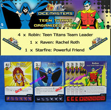 TEEN TITANS PROMOS + 4 Robin + Starfire + Raven - DC Dice Masters Monthly OP
