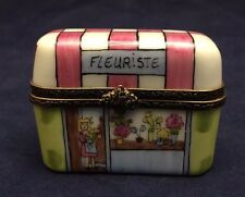 Beautiful Vintage Limoges France Trinket Box LE FLEURISTE - Flower Store
