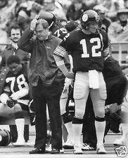 CHUCK NOLL-TERRY BRADSHAW PITTSBURGH STEELERS  8X10 SPORT PHOTO (XXXL)