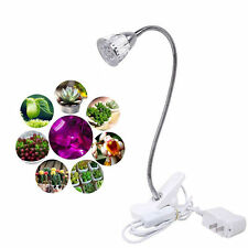 LED Grow Light 5W Hydroponic Indoor Garden Plant Desk Flexible Clip On Lamp-ES