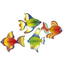 Pack of 2 tropical fish honeycomb tissue decoration sealife under the sea party