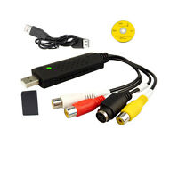Usb 2.0 Power Cable VHS to DVD 3 Phono RCA Gold U-Video AV RW Capture Adapter UK