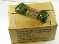 US GI M1 CARBINE TYPE 3 FRONT BANDS WITH BAYONET LUG IN ORIGINAL PACK SET OF 2