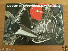 061 HONDA VINTAGE BROCHURE 1 & 2 CYLINDERS DUTCH 12 PAGES,CB125 S3,CB125T,CB250T
