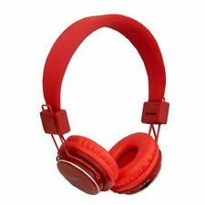 Red Nia Plegable Micro Sd/radio Fm/reproductor de MP3 Bluetooth Auriculares con micrófono