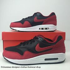 "NIKE AIR MAX 1 GS TRAINERS WOMENS GIRLS BLACK RED ""BRED"" SHOES UK 5 RRP £100"