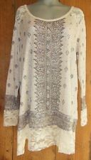 NEW VOCAL TUNIC sweater SHIRT TOP dress TRIBAL AZTEC VINTAGE BLING LACE plus 3X