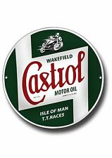 CASTROL TT RACES HIGH GLOSS FINISH METAL SIGN.IOM TT RACES
