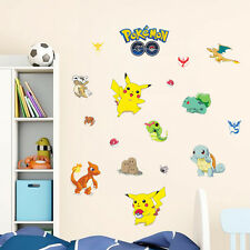 Hot Pokemon Go Cute Pikachu Wall Decals Sticker Vinyl Mural Kids Room Decor LCF