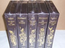 Folio Society GREAT HISTORIANS Ancient World 5v Caesar Livy Herodotus Thucydides