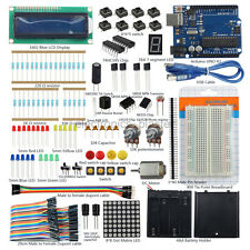 Starter Kits UNO R3 1602 LCD Switch Breadboard Motor LED Dupont Wire for Arduino