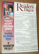 READER'S DIGEST 1993 FEBRUARY WASHINGTON FOR SALE;SADDAM;LINCOLN;MARX;PAIN;AUTO