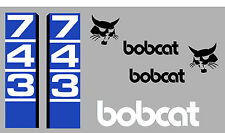 Bobcat 743 Skid Steer Decalcomania Sticker Set