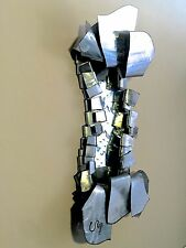 "30"" LARGE Brutalist WALL ART MIRROR SCULPTURE Jason Mernick Steel 3D $1900 signd"