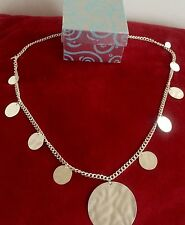 Medal round Silver Necklace in Beautiful matching gift box VALENTINE'S DAY GIFT