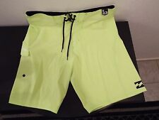 NEW Size 32 BILLABONG PLATINUMX Swimsuit Board Shorts NEON GREEN $50