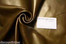 Med leather piece - Copper. Metallic, smooth grain. Appx 4 sqft B15W22-5