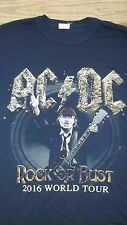 AC/DC 1st US Date with Axl Rose Greensboro NC Concert T-Shirt Medium Aug 27 2016