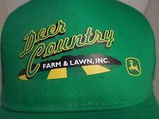 John Deer Country Feeds Seeds Farmer Cap Trucker HAT 100% Cotton Green Tractor
