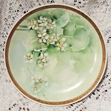 """ANTIQUE RS GERMANY PORCELAIN HAND PAINTED & SIGNED FLORAL PATTERN 6"""" PLATE - 4"""