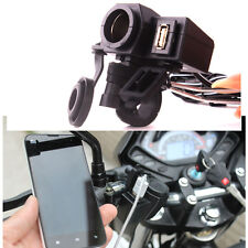 Motorcycle Waterproof 12V Cigarette Lighter Charger USB Power Port Phone GPS Kit