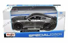 Maisto 2015 Ford Mustang GT 5.0 GREY 1/24 Diecast Car Model 31508GRY