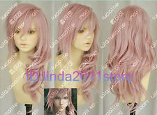 Final Fantasy XIII 13 Lightning Long Pink Cosplay Fashion Hair Wig