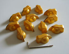 Pack of 12 Brass Insert Guitar Chicken Head Knob AMP Effect pointer Knob Gold