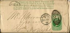 BLANDFORD : 1876 87 numeral cancel on postal stationery wrapper