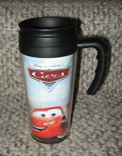 Disney Store Disney-Pixar 'Cars' 14-Ounce Insulated Travel Mug with Handle EUC