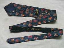 DISTINCTION TIE BLACK RED YELLOW 60S VINTAGE MOD RETRO PATTERN SHIMMERY NEW