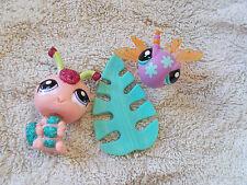 Littlest Pet Shop Pretty Pairs Sparkle Caterpillar #2145 & Dragonfly #2146 w/acc