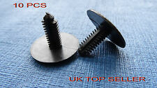 10 X LAND ROVER BLACK TRIM PANEL FIR TREE SPRUCE BUTTON CLIPS