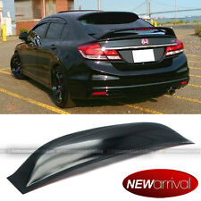 Fit 12-15 Honda Civic 4DR Sedan Acrylic Rear Window Roof Vent Visor Spoiler Wing