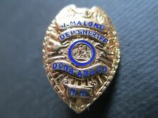 10kt Gold Miniature New Mexico Law Enforcement Badge Deputy Sheriff Las Cruces