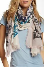 LEIGH & LUCA Chantarelle Rectangle Fringe Silk Blend Scarf -NWT
