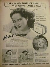 Merle Oberon, Lux Toilet Soap, Full Page Vintage Print Ad