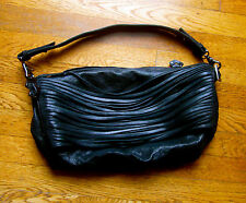 RARE COUTURE DESIGNER BLISS LAU BLACK Leather Purse Bag MOTORCYCLE SHRED